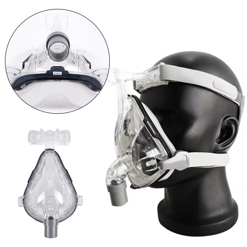 Full Face CPAP Mask Auto with Adjustable Headgear Strap Clip for Sleep Apnea Patient 17