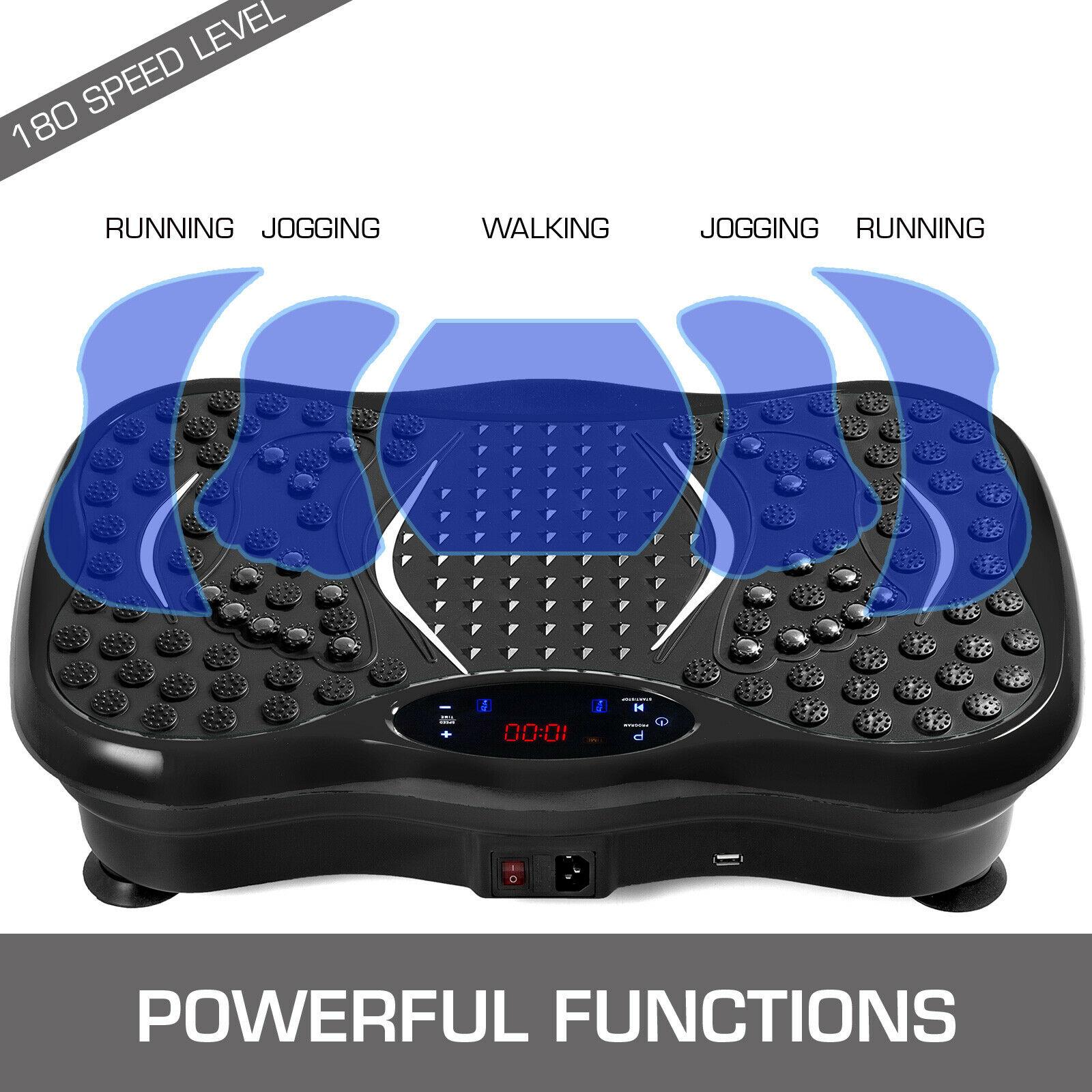 3D Vibrating Platform 180 Level Vibrating Slimming Platform 180 Level Vibrating Platform Vibro Shaper with Anti-Slip Surface