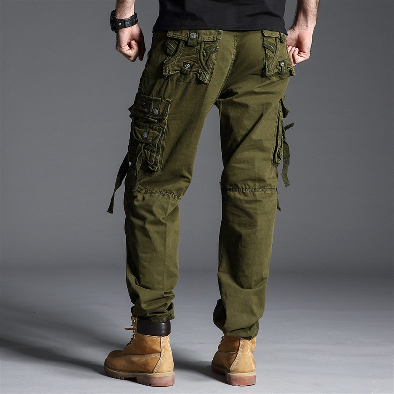GAGA Men Fashion Cotton Casual Military Army Cargo Trousers Combat Work Pants