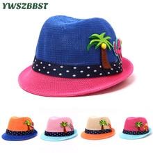 цена на New Spring Summer Boys Girls Sun Hat Cartoon Baby Straw Hat Kids Sun Cap Child Bucket Hats Boys Girls Brim Beach Cap