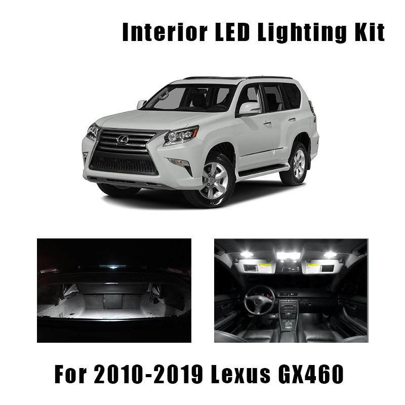 16pcs Canbus LED Bulbs Interior Map Dome Light Kit For 2010-2016 2017 2018 2019 Lexus GX460 No Error Door Vanity Mirror Lamp