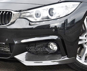 Image 3 - P Style F32 Real Carbon Front Bumper Splitters for BMW F32 M Tech Bumper Only 1pair