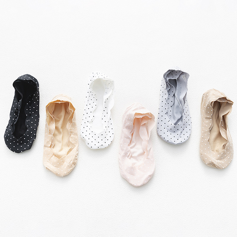 2 Pieces =1 Pairs Spring Summer Slipper Socks Female Point Shallow Mouth Invisible Socks Lace Socks Ultra-thin Sock Slippers
