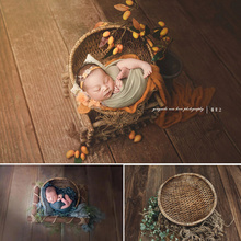 Newborn Baby Photography Props Handmade Rattan Basket Shooting Photo Accessoire Vintage Baby Photo Frame Fotografia Accessories dvotinst newborn baby photography props crochet knit wool eggshell basket filler fotografia accessories studio shooting props