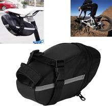 Portable Waterproof Bike Saddle Bag Portable Cycling Seat Pouch Bicycle Tail bags Rear Pannier Cycling equipment rockbros waterproof bike saddle bag reflective large dirtproof foldable mtb road tail rear bag pannier backpack 10l cycling bag