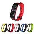 Двухцветный мягкий силиконовый ремешок для Huawei Band 4e 3e Honor Band 4, классический цветной сменный Браслет для наручных часов