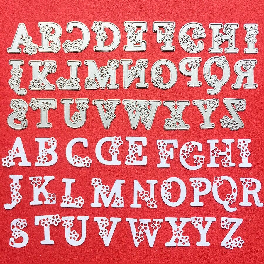2019 mais novo Capital Letra Do Alfabeto Stencil Embossing Decorativa De Metal Cortando Cartões de Papel Scrapbooking DIY Craft Die