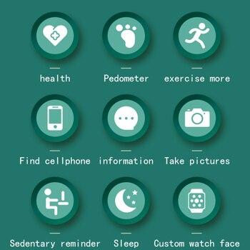 2021 Smart Watch Men Women Heart Rate Fitness Tracker Bracelet Watch Blue.tooth Waterproof Sport Smartwatch For Android IOS 4