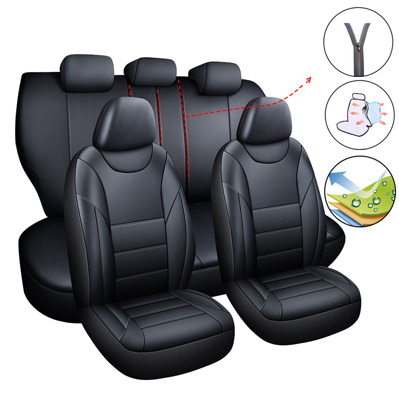 Car Seat Cover Pu Leather Covers for Car Auto Accessories for <font><b>Lada</b></font> <font><b>2107</b></font> 2110 2114 Granta Kalina Largus Priora Samara Vesta XRAY image