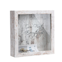 Wood 8 Inch Stereo Frame Retro Wine Cork Painting Frame Stamp According to Beer Bottle Cap Storage Display Frame