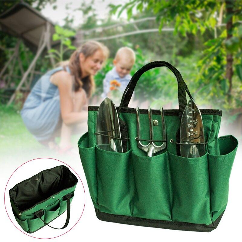 Сумка для садовых инструментов прочная 600D ткань Оксфорд садовая сумка-ведро портативный органайзер для садовых инструментов для хранения ...