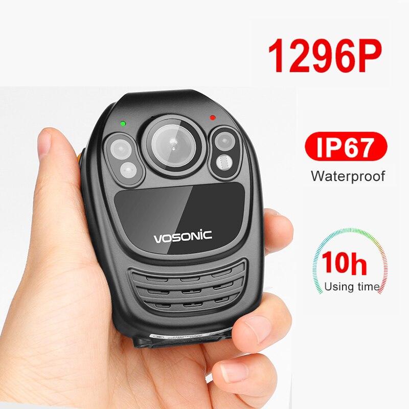 Professionnel 1296p HD voiture caméra DVR IP67 étanche enregistreur vocal Police DV sécurité corps porté Cam vision nocturne Clip vidéo