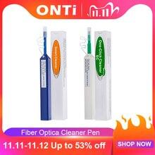 Onti, limpador de clique único, caneta de limpeza de fibra óptica limpa 2.5mm sc fc st e 1.25mm conector mu do lc mais de 800 vezes