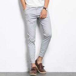 Browon Pantalones Casuales Para Hombre Pantalon De Moda De Color Solido Rectos Ligeros Elasticos A La Altura Del Tobillo Formales De Alta Calidad Para Otono Cerstyle Me