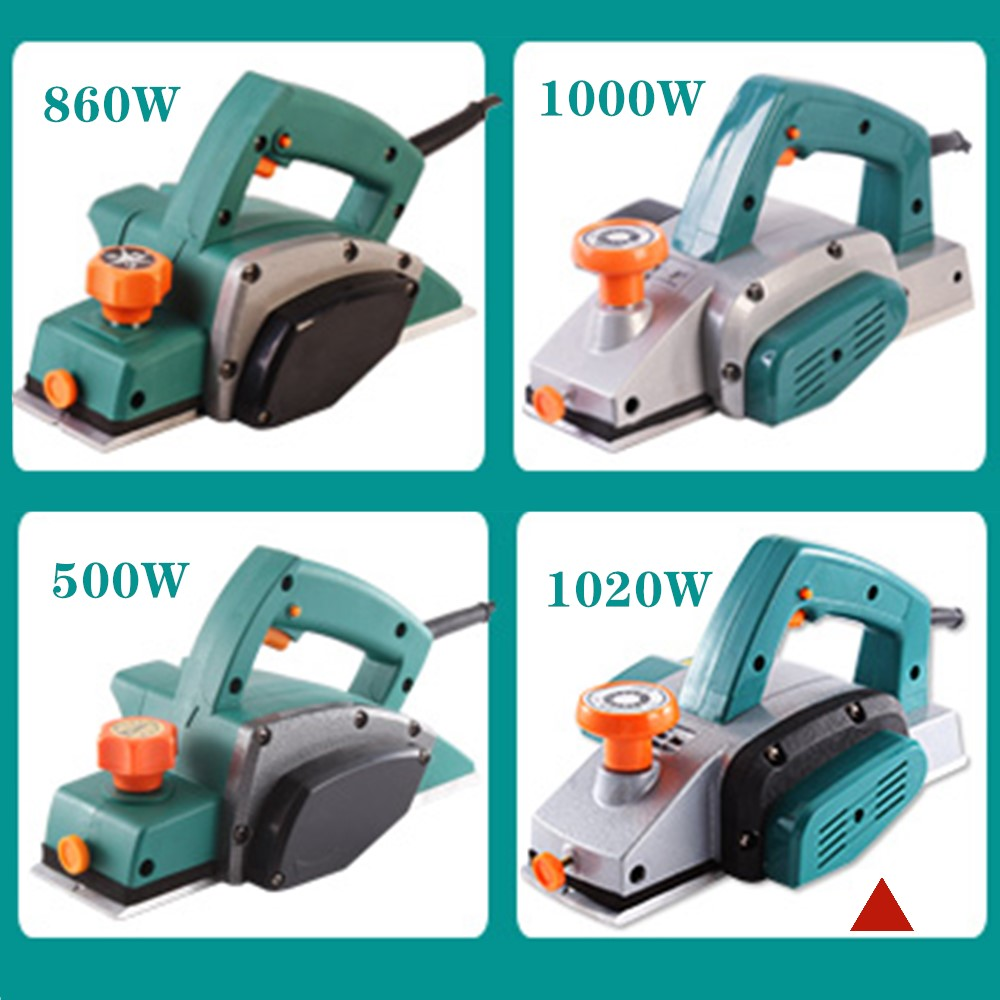 1020W Portable electric planer carpenter Household multi-function electric planer planer Woodworking tool electric tool