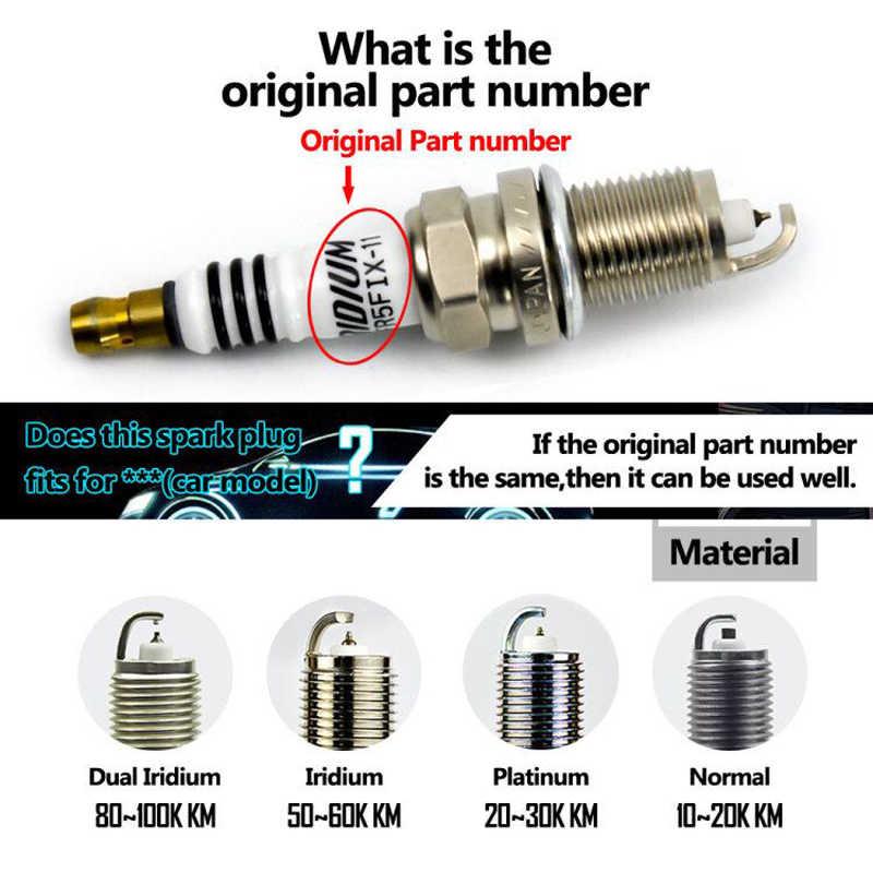 Spark Plug NGK Laser Iridium Platinum Standard IZFR6K13 For Honda Fit Accord
