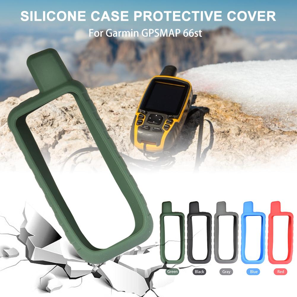 5-Color Anti-Drop Silicone Walkie-Talkie Protector Case Full-Cover Shell For Garmin GPSMAP 66st / 66s Protective Accessories