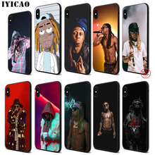 IYICAO Lil wayne Soft Black Silicone Case for iPhone 11 Pro Xr Xs Max X or 10 8 7 6 6S Plus 5 5S SE