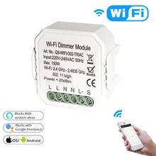 Tuya DIY Smart WiFi Light LED Dimmer Switch Remote Control 1/2 Way Switch,Works