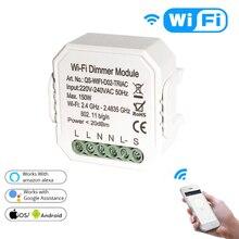 Умный светодиодный Wi Fi регулятор яркости Tuya, дистанционное управление, переключатель с 1/2 каналами, работает с Alexa Echo Google Home