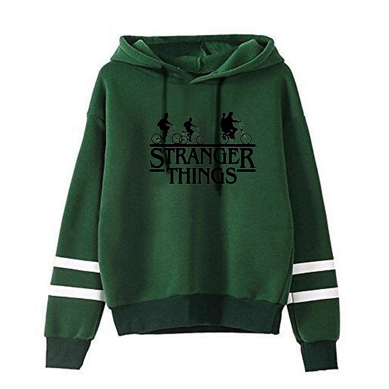 LISCN 2019 Fall American Drama Strange Story Sweatshirt STRANGER THINGS Letter Print Men And Women Hoodie Jacket Winter