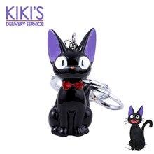 Porte-clés chat Black Kiki JiJi, Hayao Miyazaki, Service de livraison, jouets figurines d'action pour enfants, bijoux Souvenir