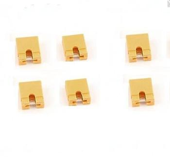100 Yellow2.54mm jumper cap mini jumper short circuit, chapter meeting electronics accessories compatible board tantalum image