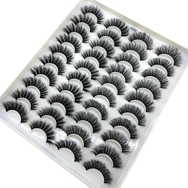 20 пар 15-20 мм 3d норковые ресницы Объемные искусственные густые длинные мерцающие натуральные норковые ресницы в упаковке короткие Оптовые н...