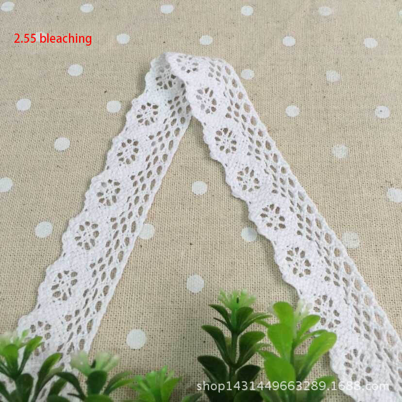 2.5cm/10m Wide Home and Gardening Arts, Crafts and Sewing DIY Linen Clothing Sewing and Fabric Lace