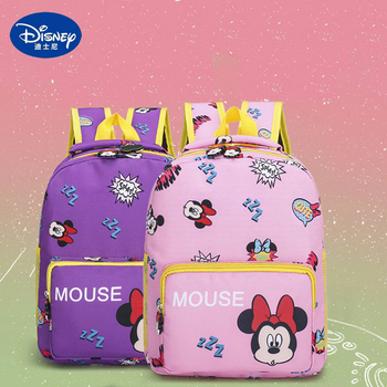Minnie Mouse Kindergarten Children Cartoon Mickey Mouse School Bags Kids Minnie Backpack Waterproof  2-5 Ages Schoolbags Gifts 2019 disney lovely mickey minnie mouse kids backpack girls shool bags children plush backpacks bags kindergarten book bag gift