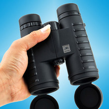 лучшая цена 10x42 Camping Hunting Scopes Binoculars with Neck Strap Carry Bag Telescope Wide Angle Professional Binocular HD