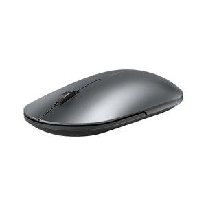 Image 2 - Mais novo xiaomi bluetooth mouse mi moda sem fio mouse mouses 1000dpi 2.4ghz wifi ligação mouse óptico de metal portátil mouse