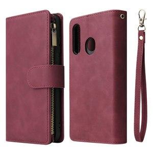 Image 1 - Multifunktions Zipper Fall für Coque Samsung Galaxy A21S A31 A51 A71 A50 A70 A40 A10 A41 A21 S A11 A01 EINE 71 51 EINE 31 21 Flip Abdeckung