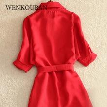 Fashion Summer Long Shirt Blouse Women Solid Red Chiffon Tops For Women Ladies Tunic Blusas Chemisier Roupa Feminina 2020