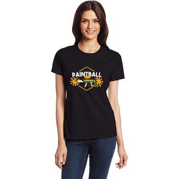 Paintball Rifle Splash bolas de color Airsoft Gotcha camiseta algodón humorístico hombres Camiseta de manga corta homme hip hop