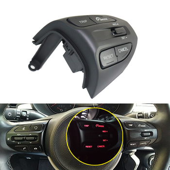 For KIA K2 RIO IKSLAIN AUGUST X-LINE LUXE RED LINE Steering Wheel Cruise control Button Bluetooth Audio Phone Volume Switch Car for hyundai ix25 creta 1 6l steering wheel cruise control buttons remote control volume channel bluetooth phone button