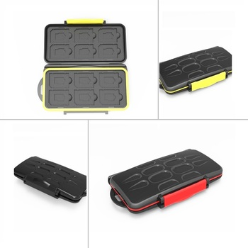 Memory Card Case Box Storage Holder 12 SD 12TF Micro SD Card 24 Cards Hard Bag Waterproof plastic shaped