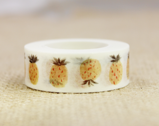 Yellow Fruit Washi Masking Tape(1piece)
