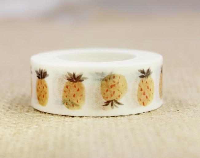 Yellow Fruit Washi Masking Tape(1piece)