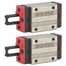 цена на 2Pcs/set HGH15CA Mini Linear Motion Guide Rail Block Slider Bearing Steel Sliding Blocks