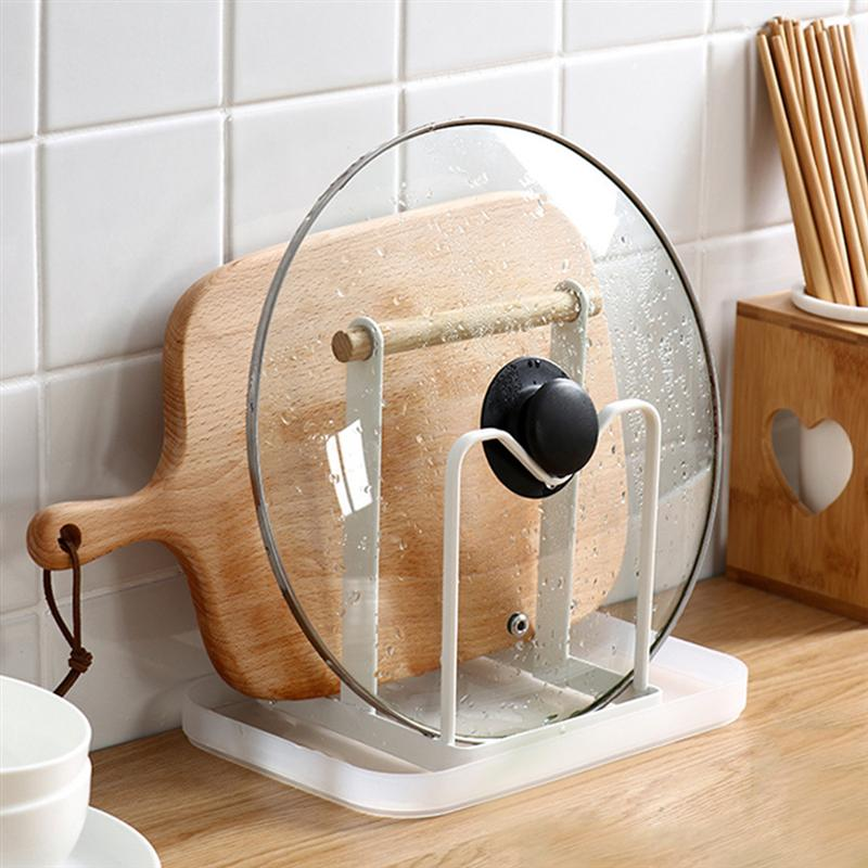 OUNONA 2PCS Cutting Board Drying Rack Holder Dish Pot Lid Storage Rack Bowls Plates Chopsticks Drain Rack For Home Kitchen