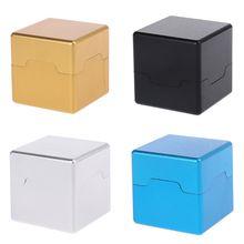 Pocket Billiard Cue Chalk Holder Aluminum Portable Mini Cue Tips Chalk Pool Chalks Carrier Case Box
