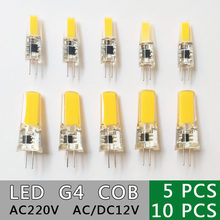 Dimmable GreenEye LED G4 COB Lamp Bulb 6W 10W AC/DC 12V 220V COB SMD LED G4 Dimmable Lamp replace Halogen Spotlight Chandelier