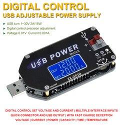 CNC USB TYPE-C DC DC Converter CC CV 1-30V 2A 15W Power Module Adjustable Regulated power supply QC2.0 3.0 AFC