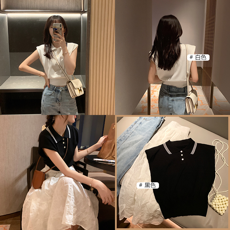 MISHOW 2020 Summer New Women T-Shirts Turn Down Collar Button Casual Sexy Solid Tops Female Clothing MX20B5487