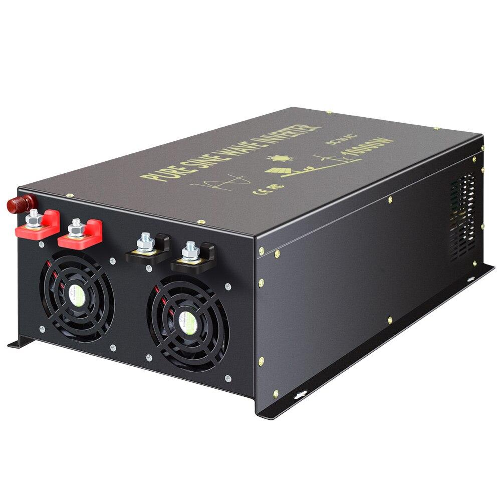20000W pic pur onduleur à onde sinusoïdale 12V DC à 220V 10000W AC générateur solaire onduleur transformateur 12 V/24 V/48 V à 120 V/240 V