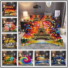 New European and American style adult home textile oil painting personality quilt cover without sheet printing set doublextra la