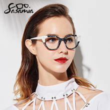 SASAMIA Acetate Eyeglasses Frame Women Vintage Cat Eye Glasses womens glasses Frame Spectacles Optical Frames Myopia Eyewear