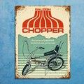 Металлические ретро-знаки декоративные настенные таблички в винтажном стиле Raleigh Chopper Bike