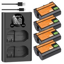2550 мАч EN-EL15 батарея EL15A/двойное зарядное устройство для Nikon D500 D600 D610 D600E D750 D800 D800E D810 D850 D7000 D7100 D7200 Z6Z7